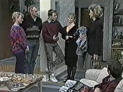 Helen Daniels, Jim Robinson, Nick Page, Sharon Davies, Beverly Marshall, Todd Landers in Neighbours Episode 1034
