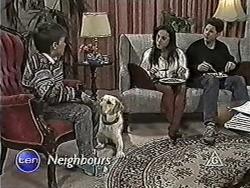Toby Mangel, Bouncer, Kerry Bishop, Joe Mangel in Neighbours Episode 1034