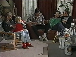 Jane Harris, Jamie Clarke, Des Clarke, Paul Robinson, Gail Robinson in Neighbours Episode 1036