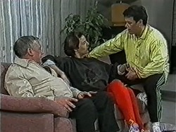 Rob Lewis, Gail Robinson, Paul Robinson in Neighbours Episode 1036