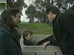 Kerry Bishop, Toby Mangel, Joe Mangel in Neighbours Episode 1037