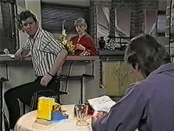 Des Clarke, Jane Harris, Mike Young in Neighbours Episode 1038