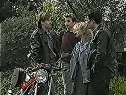 Mike Young, Nick Page, Sharon Davies, Matt Robinson in Neighbours Episode 1038