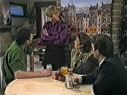 Des Clarke, Jane Harris, Gail Robinson, Paul Robinson in Neighbours Episode 1039