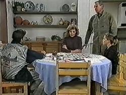 Todd Landers, Beverly Robinson, Jim Robinson, Katie Landers in Neighbours Episode 1040