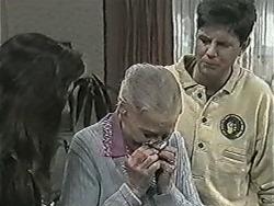 Kerry Bishop, Mary Crombie, Joe Mangel in Neighbours Episode 1043