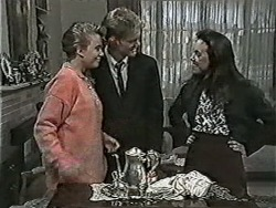 Bronwyn Davies, Henry Ramsay, Kerry Bishop in Neighbours Episode 1043