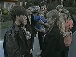 Mike Young, Kerry Bishop, Joe Mangel, Jamie Clarke, Des Clarke, Jane Harris, Henry Ramsay, Bronwyn Davies in Neighbours Episode 1043