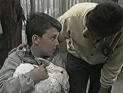 Toby Mangel, Rupert, Joe Mangel in Neighbours Episode 1044