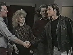 Matt Robinson, Sharon Davies, Nick Page, Mike Young in Neighbours Episode 1044