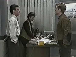 Paul Robinson, Gail Robinson, Clive Gibbons in Neighbours Episode 1044