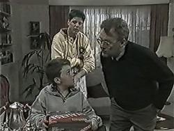 Toby Mangel, Joe Mangel, Harold Bishop in Neighbours Episode 1044