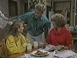Bronwyn Davies, Henry Ramsay, Madge Bishop in Neighbours Episode 1046