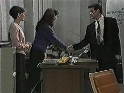 Hilary Robinson, Angela Clayton, Paul Robinson in Neighbours Episode 1047