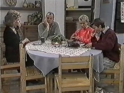 Beverly Marshall, Jim Robinson, Helen Daniels, Todd Landers in Neighbours Episode 1048