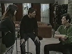Kerry Bishop, Joe Mangel, Des Clarke in Neighbours Episode 1050