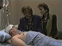 Rob Lewis, Gloria Lewis, Gail Robinson in Neighbours Episode 1050