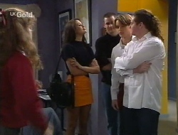 Hannah Martin, Sarah Beaumont, Luke Handley, Billy Kennedy, Toadie Rebecchi in Neighbours Episode 2708