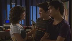 Bridget Parker, Declan Napier, Zeke Kinski in Neighbours Episode 5650