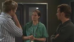 Dan Fitzgerald, Dr. Peggy Newton, Lucas Fitzgerald in Neighbours Episode 5653