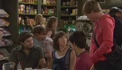 Declan Napier, Bridget Parker, Zeke Kinski, Ringo Brown in Neighbours Episode 5656
