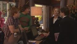 Ringo Brown, Adam Clarke, Miranda Parker, Declan Napier in Neighbours Episode 5656