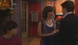 Zeke Kinski, Bridget Parker, Declan Napier in Neighbours Episode 5656