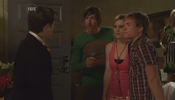Declan Napier, Adam Clarke, Ashley Black, Ringo Brown in Neighbours Episode 5656