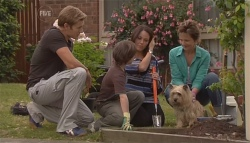Dan Fitzgerald, Ben Kirk, Libby Kennedy, Susan Kennedy, Audrey in Neighbours Episode 5658