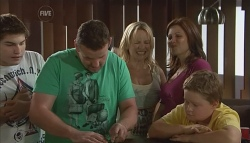 Declan Napier, Toadie Rebecchi, Steph Scully, Rebecca Napier, Callum Jones in Neighbours Episode 5658