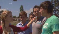 Elle Robinson, Ringo Brown, Nathan Black, Adam Clarke in Neighbours Episode 5662
