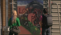 Melissa Evans, Zeke Kinski in Neighbours Episode 5663