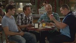 Declan Napier, Lucas Fitzgerald, Steve Parker, Toadie Rebecchi in Neighbours Episode 5663