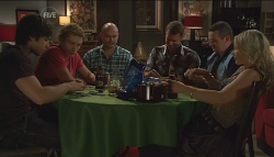 Ty Harper, Dan Fitzgerald, Steve Parker, Lucas Fitzgerald, Toadie Rebecchi, Steph Scully in Neighbours Episode 5664