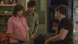 Bridget Parker, Zeke Kinski, Declan Napier in Neighbours Episode 5667