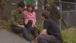 Zeke Kinski, Bridget Parker, Declan Napier in Neighbours Episode 5667