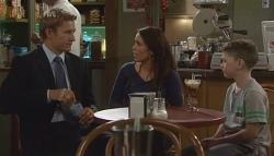 Dan Fitzgerald, Libby Kennedy, Ben Kirk in Neighbours Episode 5667