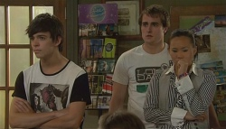 Zeke Kinski, Kyle Canning, Sunny Lee in Neighbours Episode 5675