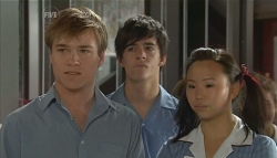 Ringo Brown, Zeke Kinski, Sunny Lee in Neighbours Episode 5679