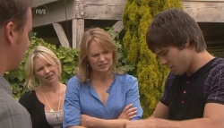 Lucas Fitzgerald, Steph Scully, Miranda Parker, Ty Harper in Neighbours Episode 5679