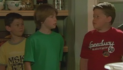 Ben Kirk, Mickey Gannon, Callum Jones in Neighbours Episode 5679