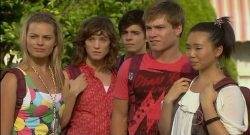 Donna Freedman, Bridget Parker, Zeke Kinski, Ringo Brown, Sunny Lee in Neighbours Episode 5701