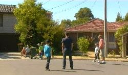 Steph Scully, Charlie Hoyland, Callum Jones, Mickey Gannon, Lucas Fitzgerald, Ben Kirk, Dan Fitzgerald in Neighbours Episode 5705