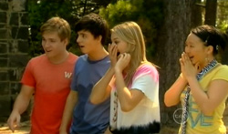 Ringo Brown, Zeke Kinski, Donna Freedman, Sunny Lee in Neighbours Episode 5707
