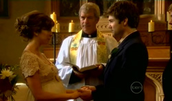 Bridget Parker, Reverend Archie Draper, Declan Napier in Neighbours Episode 5707