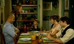 Steve Parker, Miranda Parker, Mickey Gannon, Bridget Parker, Declan Napier in Neighbours Episode 5708