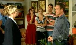 Detective Sergeant Michaela Morris , Rebecca Napier, Elle Robinson, Lucas Fitzgerald, Paul Robinson in Neighbours Episode 5709