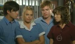 Zeke Kinski, Donna Freedman, Ringo Brown, Bridget Parker in Neighbours Episode 5711