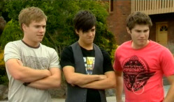 Ringo Brown, Zeke Kinski, Declan Napier in Neighbours Episode 5712
