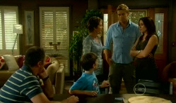 Karl Kennedy, Ben Kirk, Susan Kennedy, Dan Fitzgerald, Libby Kennedy in Neighbours Episode 5713